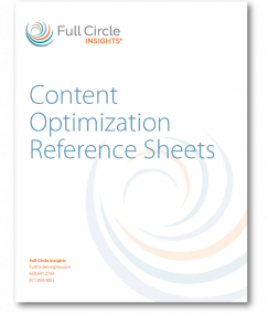 Content Optimization Reference Sheets