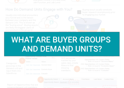 Buyer Groups and Demand Units Demystified
