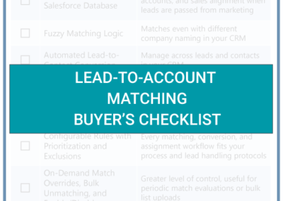 Lead-to-Account Matching Buyer's Checklist