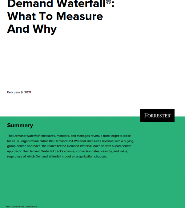 Research Brief: Demand Waterfall®: What To Measure And Why